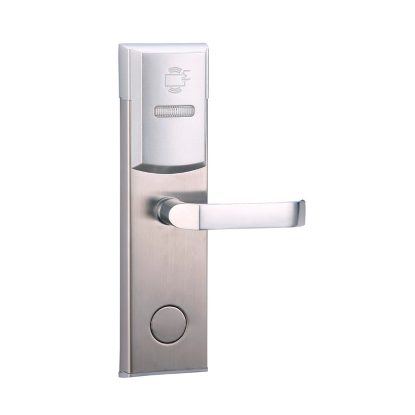 RFID T5577 hotel lock, hotel lock system, sample comes with a test T5577 card ,sn:CA-8004_T57 rfid t5577 hotel lock stainless steel material gold silver color a test t5577 card sn ca 8006