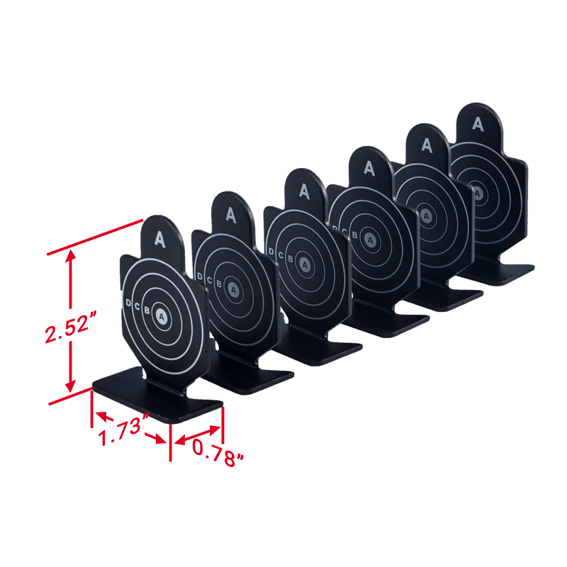 Tactifans Outdoor Metal Black Shooting Target (6pcs) Set Durable Archery Kit Target Practice Accessory for Hunting Shooting