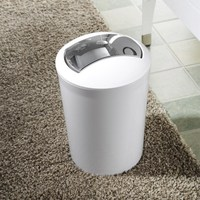 Fashion colors Rolling cover type trash can Garbage storage organizers High quality ABS material Color random
