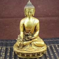 Large Tibet Tibetan brass Medicine Buddha Statue Decoration Crafts