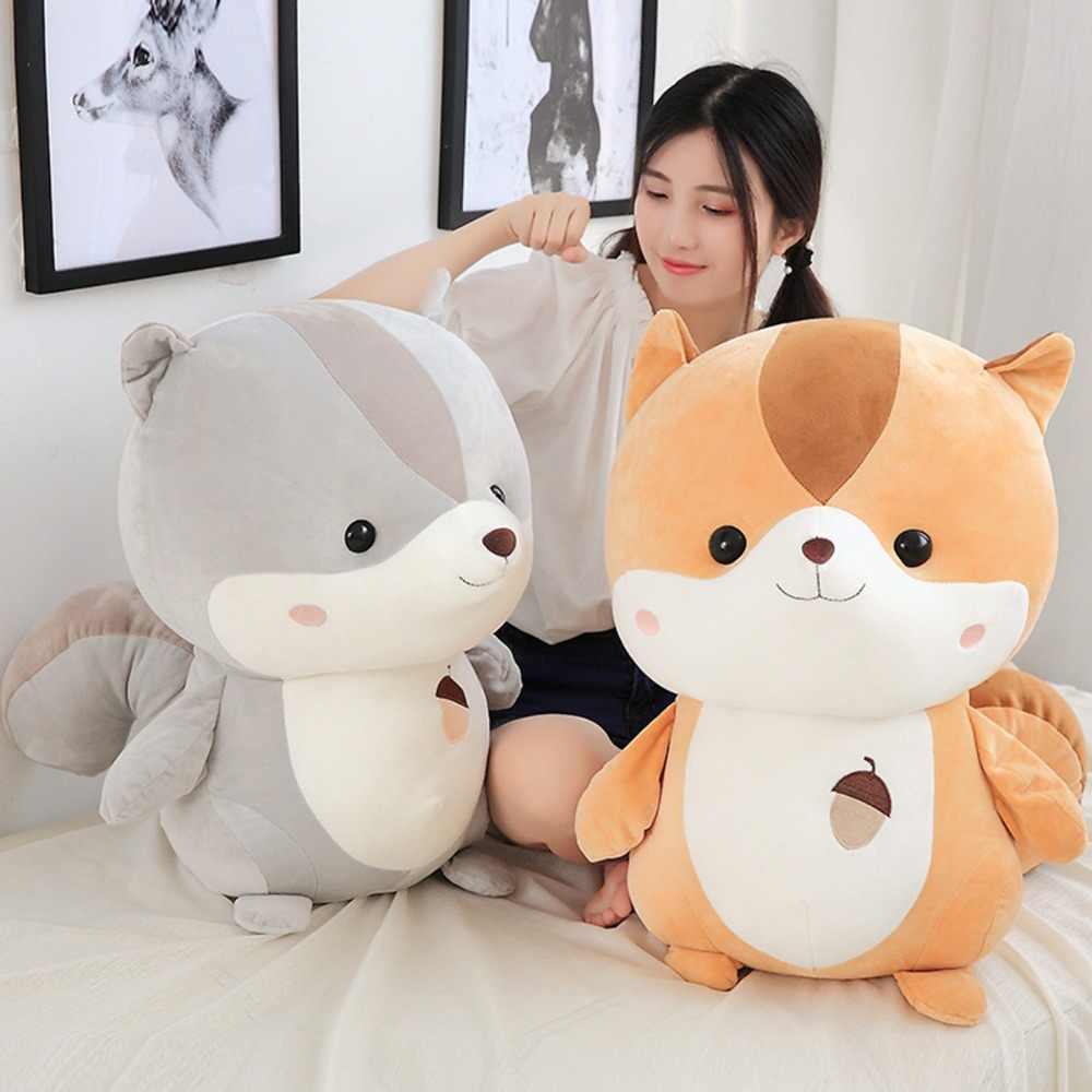 35-65 см милые Белка плюшевые куклы чучела вниз хлопок супер мягкие игрушки животных для детей подарок на день рождения для девочек детская