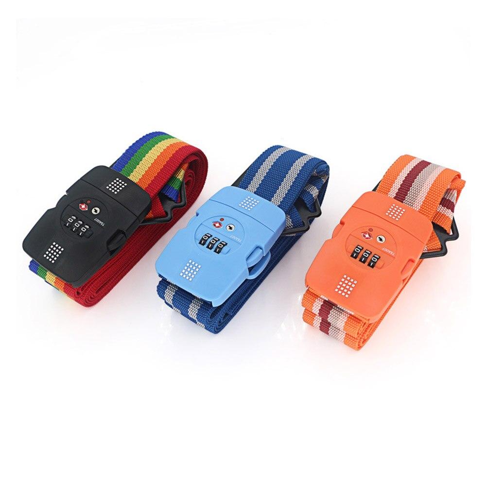 Lock Luggage Belt 3 Digit Password Customs TSA Lock Suitcase Packing Tape three digit password lock