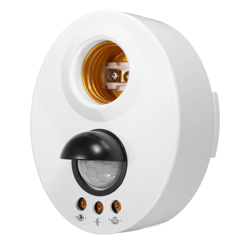 E27 Infrarouge Lumière Support de Lampe Commutateur de Mouvement PIR Capteur Retard Réglable Support de Lampe de Base