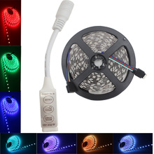 SMD RGB LED strip light  5050 SMD 30Leds/M IP20/IP65 led tape ribbon led light flexible DC12V 5m 3keys  mini controller