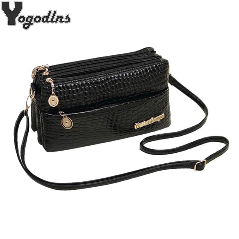 Wome PU Leather Shoulder Bag Designer Crossbody Bag Purse Vintage Female Messenger Bags With Multi Pocket Handbags Clutch