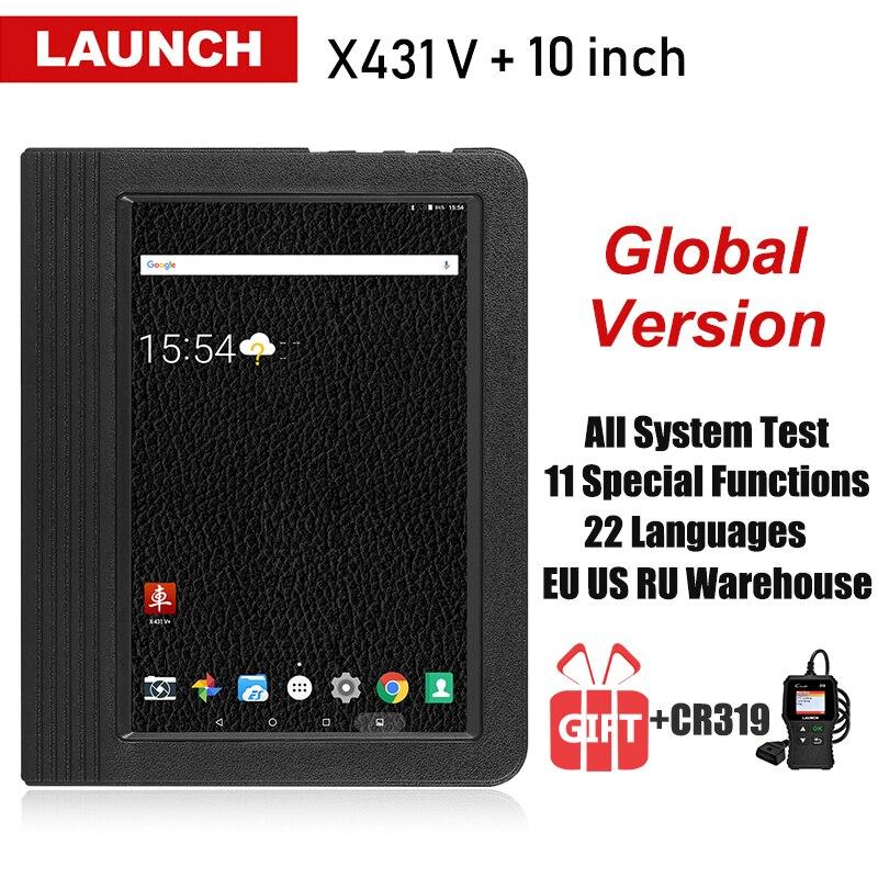 Lançamento X431 V + V Plus 10.1 polegada Auto Ferramentas De Diagnóstico Completo Do Sistema OBD2 Automotive Scan Scanner de Carro Profissional PK X 431 Pro3