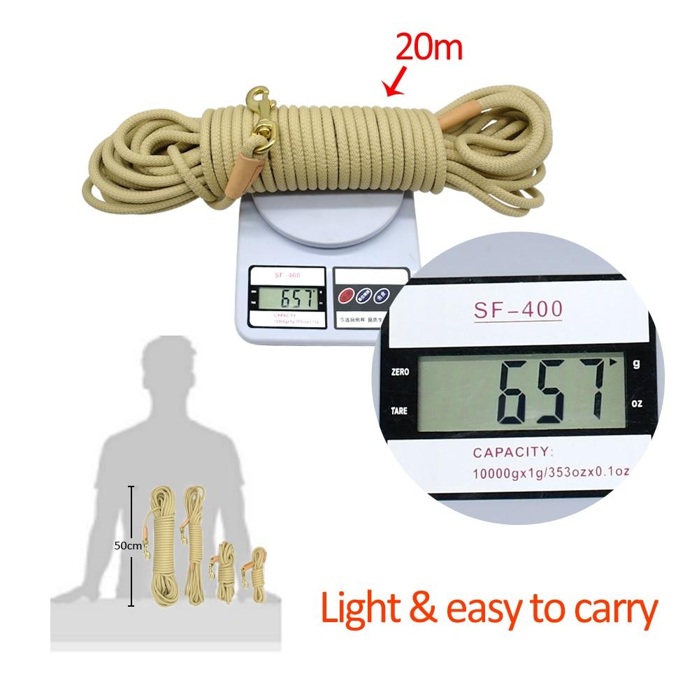 Durable Dog Tracking Leash Nylon Long Leads Rope Pet Training Walking Leashes 3m 5m 10m 20m For Medium Large Dogs Non-slip 16