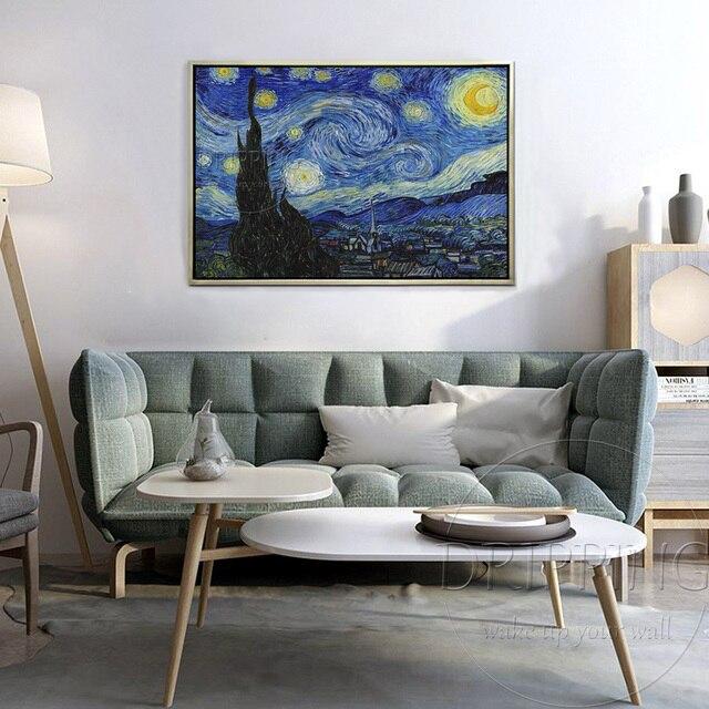 Peinture à lhuile Van Gogh artiste chinois | Peinture de nuit étoilée, peinte à la main de bonne qualité, peinture de nuit étoilée