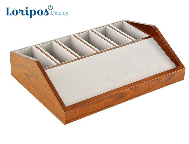 Ceinture en cuir Show Rack boîte en bois 6/8 cellules ceinture support de rangement étagère en bois pour ceinture présentoir Table armoire armoire