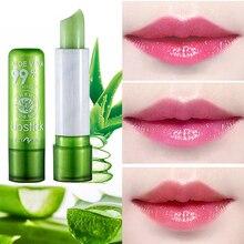 1PC Moisture Melt Lip Balm Long-Lasting Aloe Vera Lipstick Color Mood Changing Long Lasting Moisturizing Anti Aging