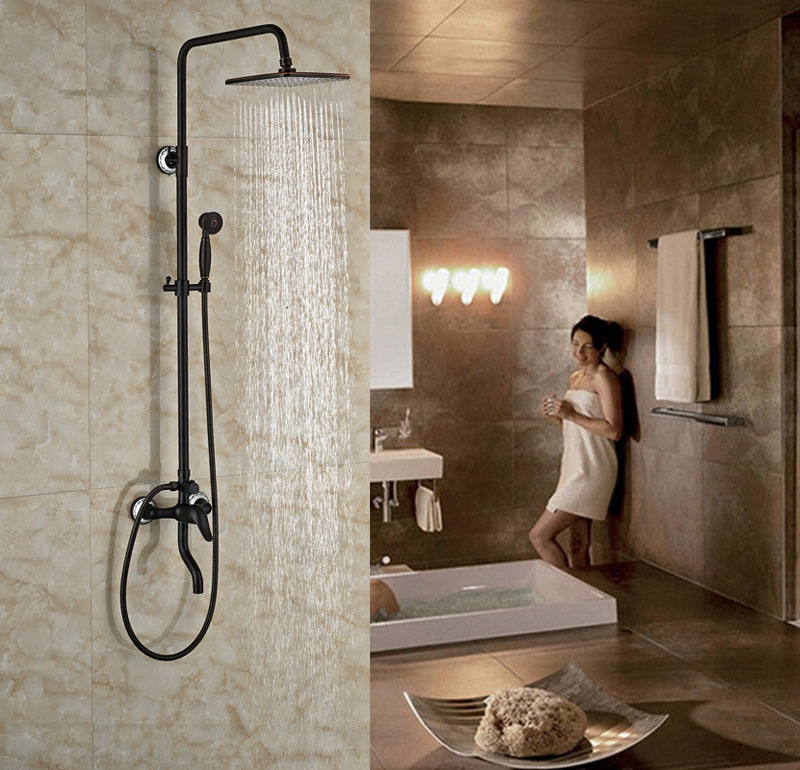 wall mounted oil rubbed broze shower set bath tub shower units square showerchina