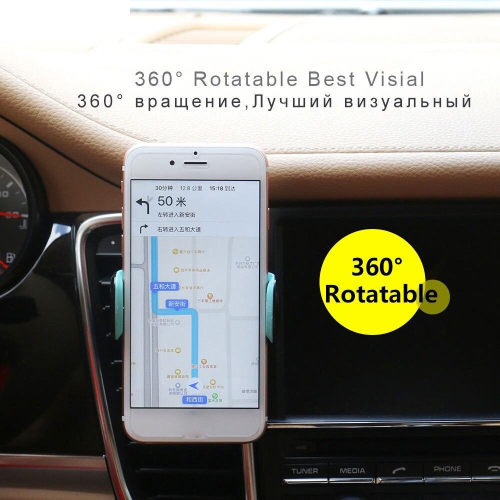 Автомобильный держатель для телефона, регулируемый держатель для телефона с gps, держатель для смартфона, дизайн HUD, автомобильный держатель для вентиляции, гравитация, универсальный