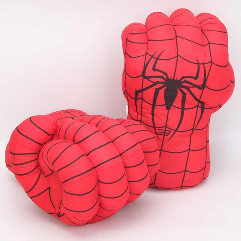33 см Marvel Мстители эндшпиль невероятный фигурка супергероя Человек-паук игрушка Халк Железный человек боксерские перчатки для мальчиков подарок перчатки-блокшив