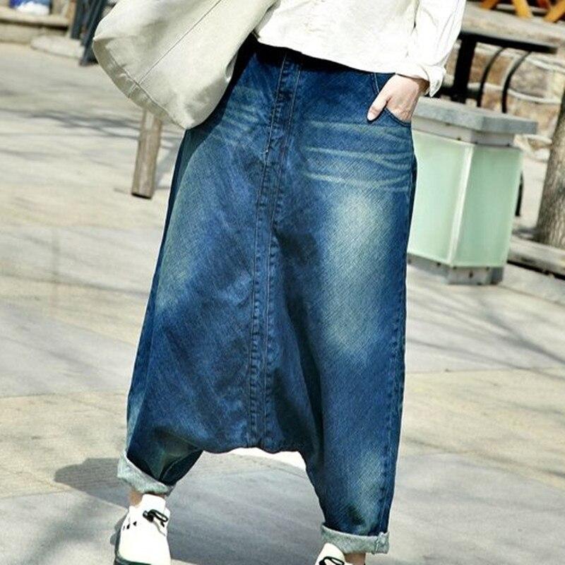 2018 Women hip hop streetwear Baggy   jeans   Boyfriend American pants Wide Leg Baggy Denim   Jean   Bloomers WP15