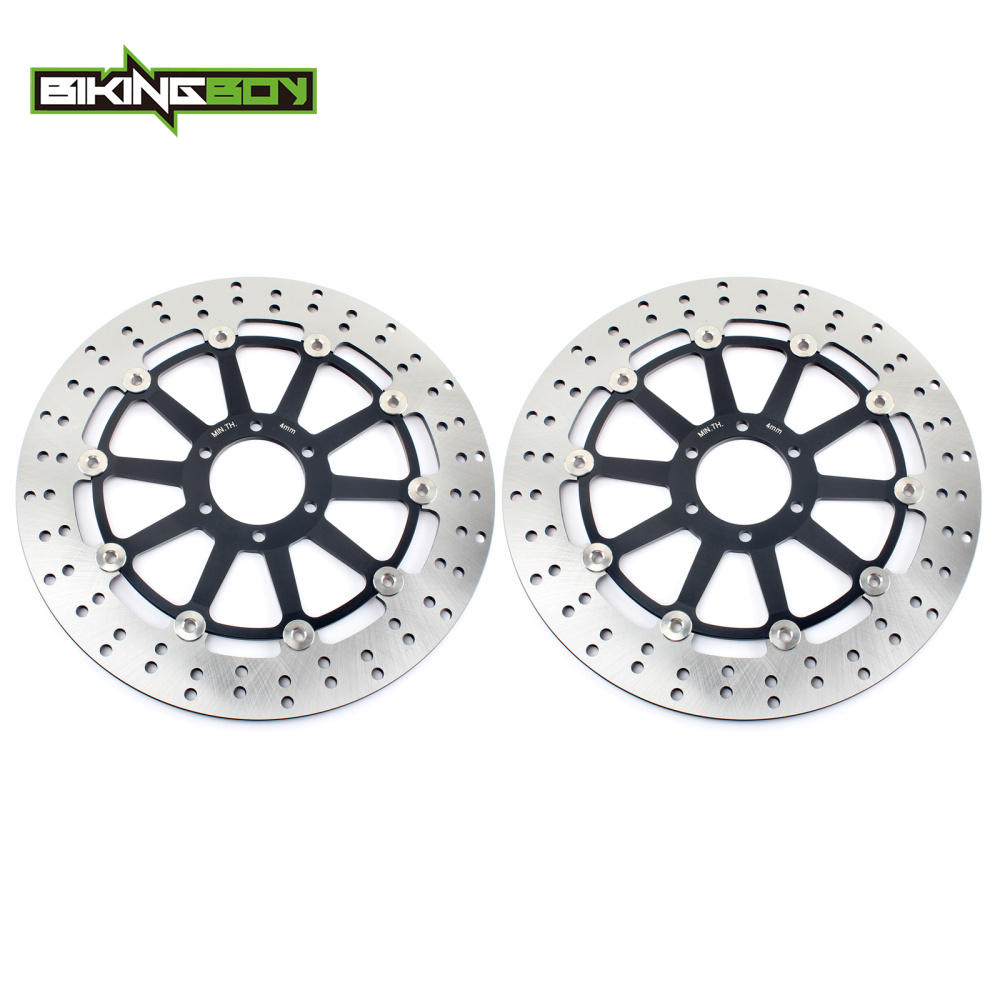 BIKINGBOY Round Front Brake Discs Disks Rotors For Aprilia RSV 1000 R SP Mille Version Factory