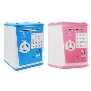 Money-Saving-Boxes Cash-Coins Simulation Kids Bank ATM Password Deposit Pretend-Play-Toys