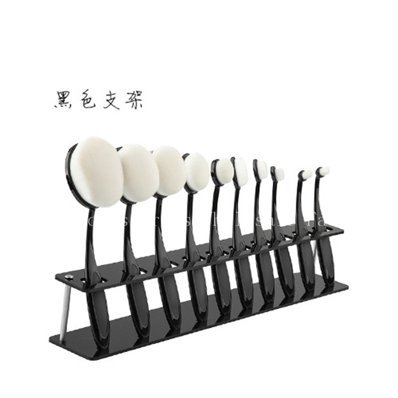 5Pcs New Showing Rack Toothbrush Oval Makeup Brushes Display Holder Stand Storage Shelf Toothbrush Foundation Brushes allen roth brinkley handsome oil rubbed bronze metal toothbrush holder