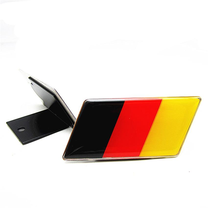 YAQUICKA Německo Vlajka Přední znak Gril Mriežka pro Golf Jetta A3 A4 A5 A6 Styl aut Auto příslušenství Auto-obaly nálepka