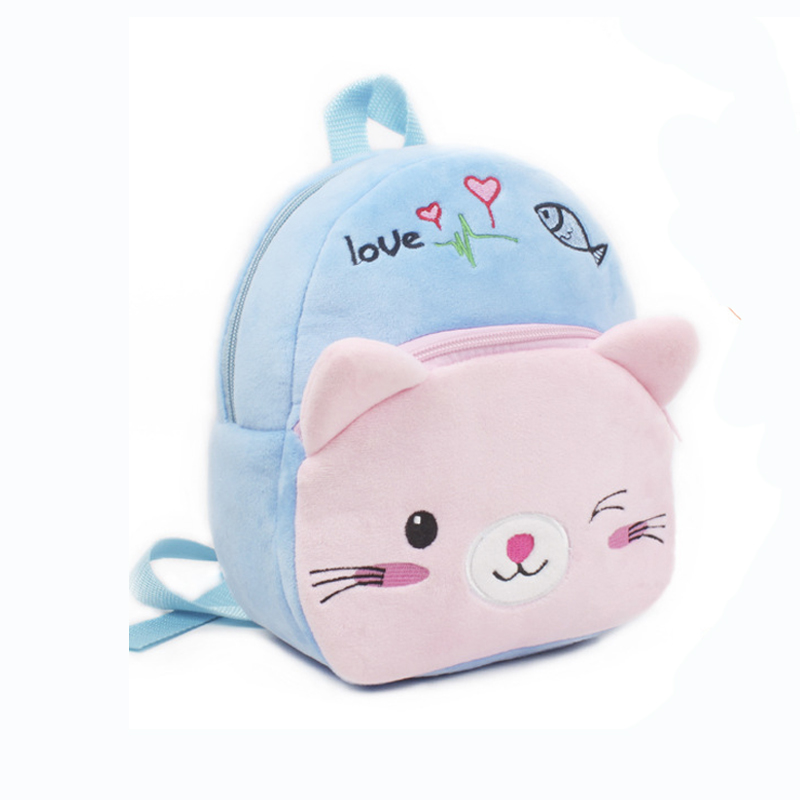 4cadc511f1f8 Pink Cat Toddler Kid Stuffed Plush Fluffy Small Backpack Schoolbags  Shoulder Bag For Baby Girls Backpacks Infant Children s Toy-in Plush  Backpacks from Toys ...
