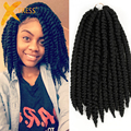 Hot Havana Mambo Twist Crochet Braids Hair 14'' 80g/pack Synthetic Crochet Braid Hair Senegalese Twists Braiding Hair Extension