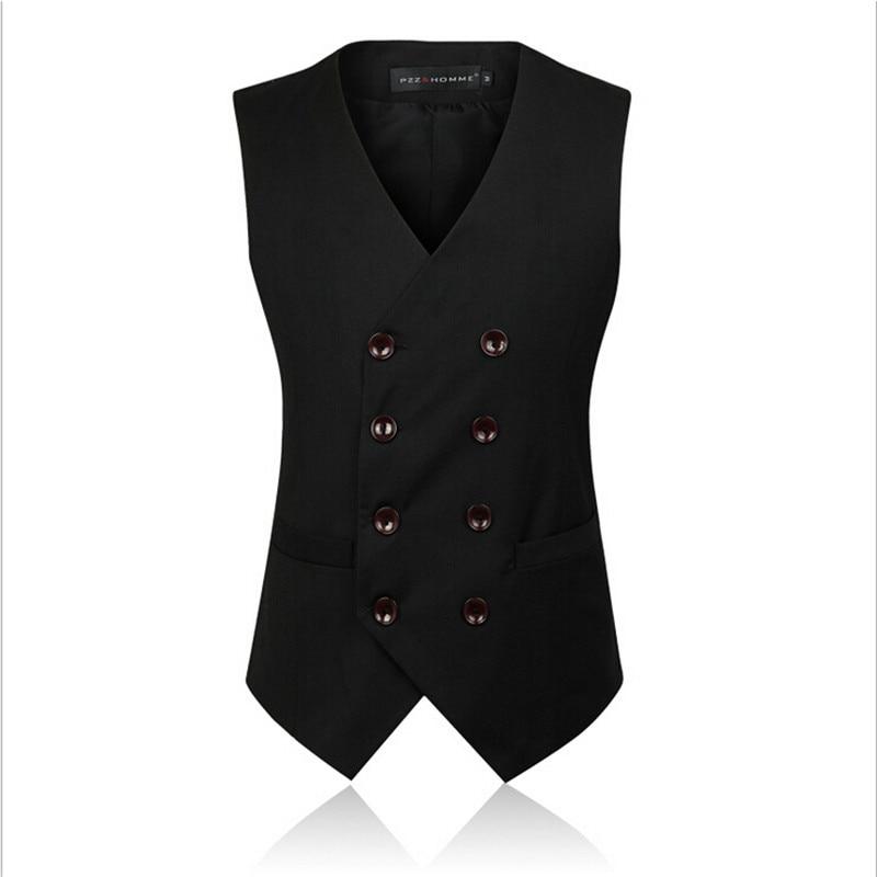 100% QualitäT England Männer Zweireiher Anzug Weste Business Männer Outwear Weste Männer Mode Ärmel Baumwolle Weste Mv91054