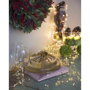 Image 5 - 8 modu şelale peri ışıkları 15/20/30 teller demet dize ışıkları fiş Firefly düğün çelengi bitkiler ağacı parti dekor