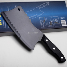 The second–1/2price Spcail Stainless Steel Meat Cleaver Anti-sticking Coating Black Chopping Knife Utility Kitchen Knives R0012