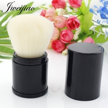 JWEIJIAO Black Chubby Pier Loose Powder Brush Cream Professional Cosmetic Makeup Elastic Metal High Quality 1 pc