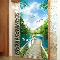 3D Wallpapers Natural Trees Landscape Flowers Wallpapers for Walls 3D Wall Papers for Living Room Home Decor Murals Corridor