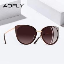 AOFLY 2019 BRAND DESIGN Chat lunettes de soleil Femmes Vintage Dames  lunettes de soleil polarisées Femme Shades Métal Cadre Lune. bfa777851aea