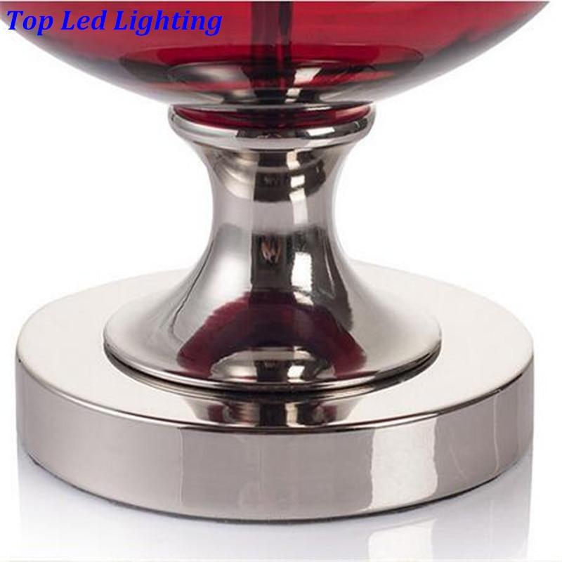 Moderna modna crvena staklena tkanina E27 Dimmerabla stolna - Unutarnja rasvjeta - Foto 6