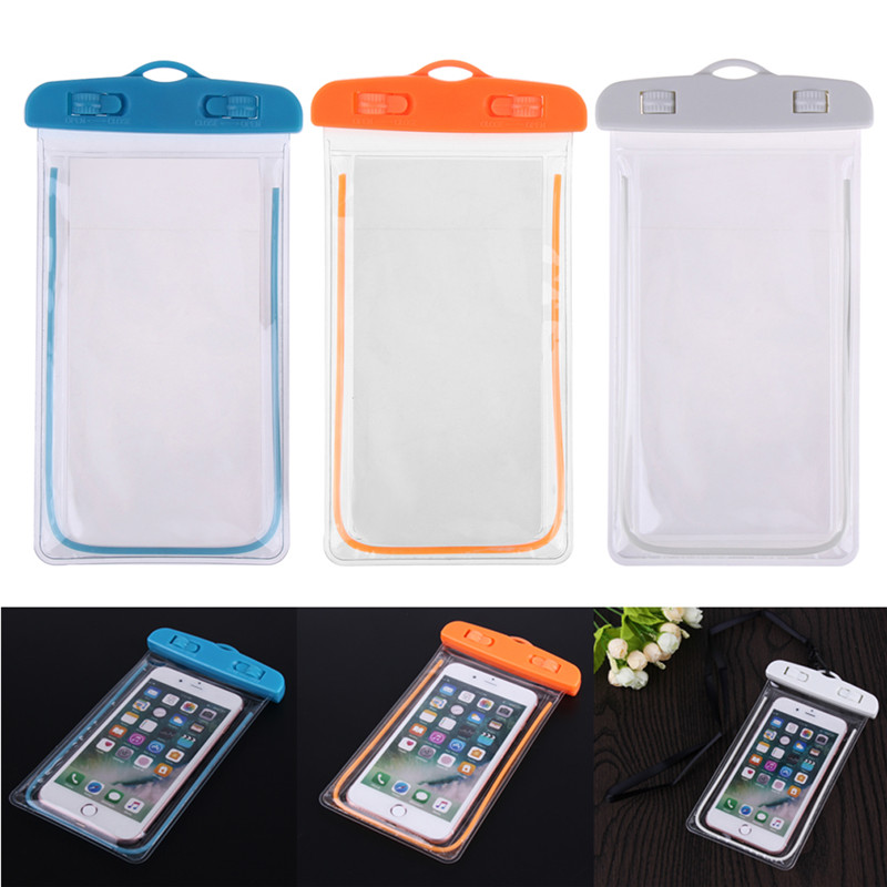 Waterproof Phone Pouch Swimming Bags With Luminous Underwater Pouch Phone Case Camping Skiing Dry Bag Universal Cover 3.5-6Inch