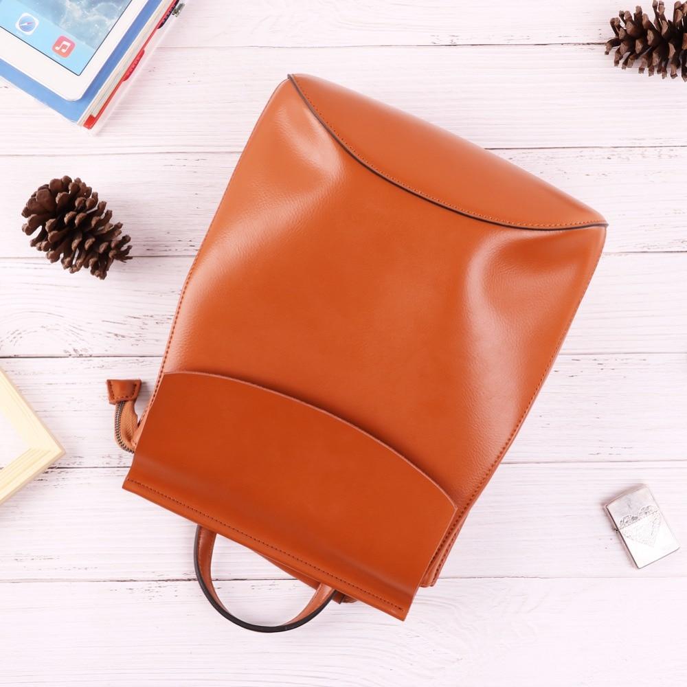 Sacs d'école en cuir véritable de haute qualité sac à dos de mode pour femmes adolescentes sac à dos femmes sac à dos femme