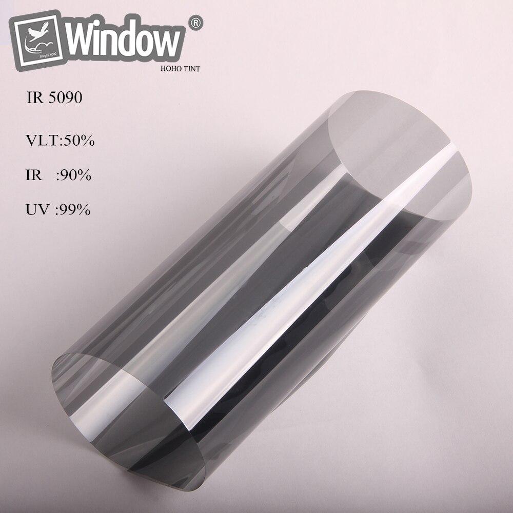 1.52x30 м черный Солнечный Оттенок Nano ceramic фильм автомобиля и дома окна стикер 50% VLT лучшее качество