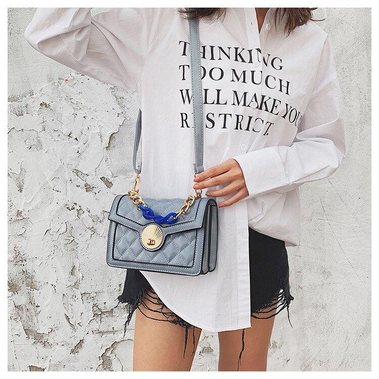 Women's Designer Luxury Channels Bags Shoulder Handbag for Women Quilted Leather Crossbody Flap Bag Fashion PU Lock Tote Handbag (14)