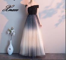 Dress Shining dresses Boat Neck Black Floor length Formal Gown