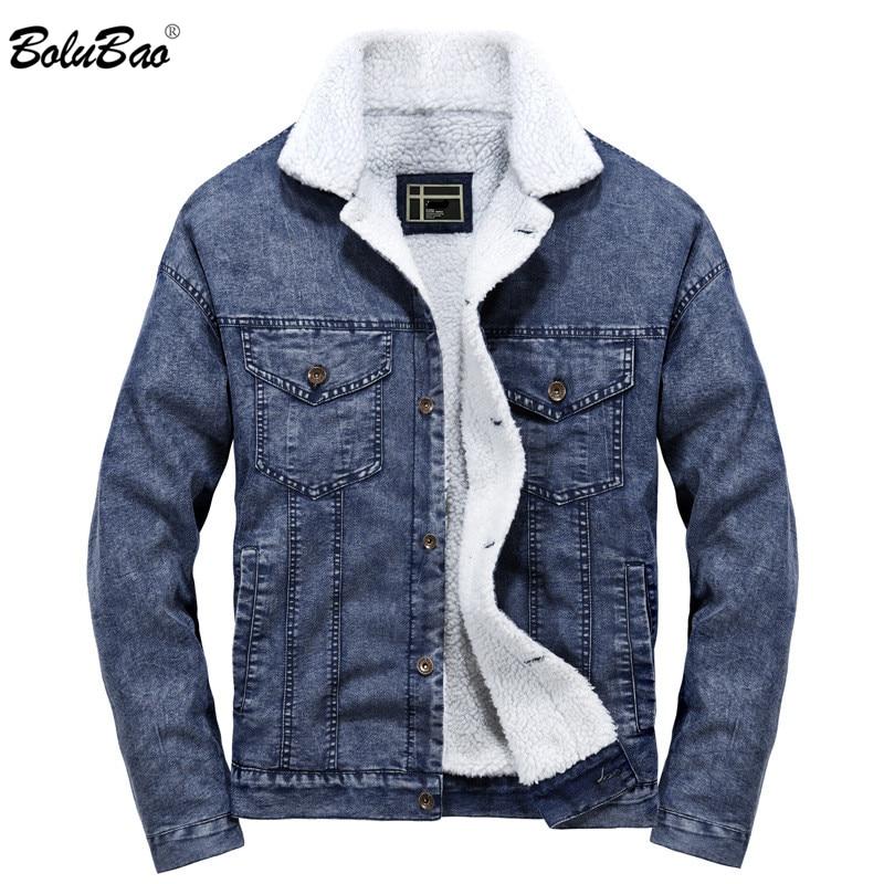 BOLUBAO Winter Men Denim Jackets Coat 2019 Brand Male Warm Jackets Outerwear Male Fashion Denim Jackets Coats
