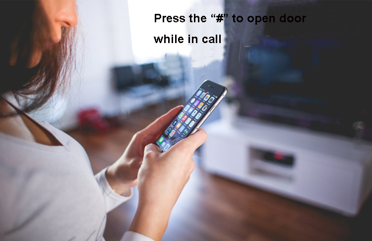 3G GSM Apartment Intercom Access Control System Support to Open Door by Phone Call RFID SMS Command Remote Control Gate Opener_F1- SMS