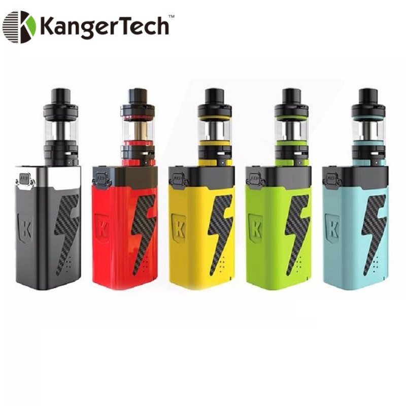 100% Original Kangertech Kanger AKD FIVE 6 Starter Kit 8ml Top Filling Subohm Tank Kanger AKD FIVE 6 220W Mod W/ Tiger Coil