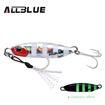 ALLBLUE New DRAGER Metal Cast Jig Spoon 15G 30G Shore Casting Jigging Lead Fish Sea Bass Fishing Lure  Artificial Bait Tackle 12