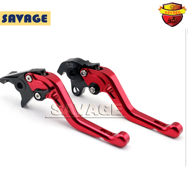 For HONDA CB1100 CB1300SF CB1300S Red Motorcycle CNC Billet Aluminum Short Brake Clutch Levers motorcycle new cnc billet short folding brake clutch levers for bimota db 5 s r 1100 2006 11 07 09 10 db 7 1100 db 8 1200 08 11