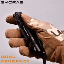 LED Rechargeable Flashlight Ekoras XML2 linterna torch 1000 lumens 18650 Battery Outdoor Camping Powerful Led Flashlight led flashlight xml t6 linterna torch 5000 lumens outdoor camping powerful led flashlight waterproof 18650 usb charger holder