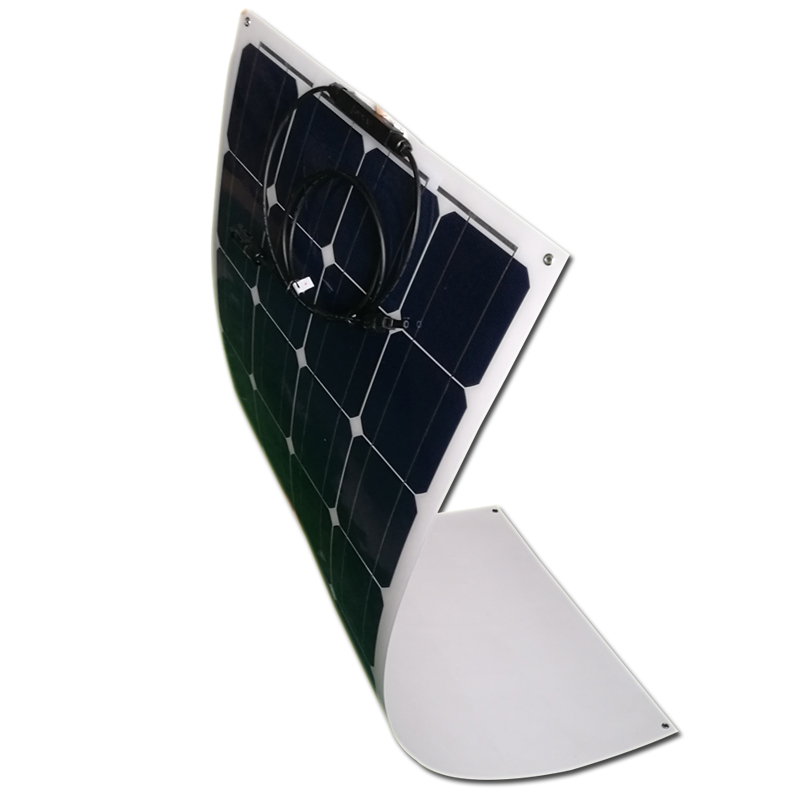 Flexible <font><b>Solar</b></font> <font><b>Panel</b></font> 25w 12v 4 PCs Zonnepanelen <font><b>100</b></font> <font><b>watt</b></font> 48 volt <font><b>Solar</b></font> Battery Charger Caravan Car Camping Motorhome RV Boat image