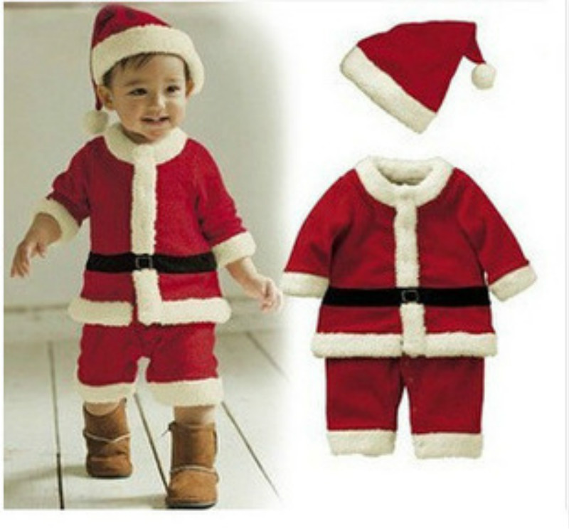 Santa Claus Clothing Boys and Girls Christmas Clothes Set Winter Boy  Outwear Coats and Jackets Baby Girl Dresses Party Costumes-in Clothing Sets  from Mother ... - Santa Claus Clothing Boys And Girls Christmas Clothes Set Winter Boy