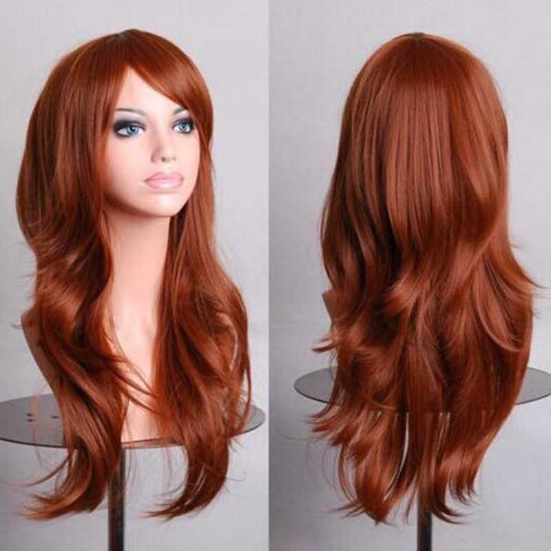 Soowee волосы длинные волнистые серый парик поддельные шиньоны синтетические волосы женский коричневый Косплэй парики для чернокожих Для женщин Peruk