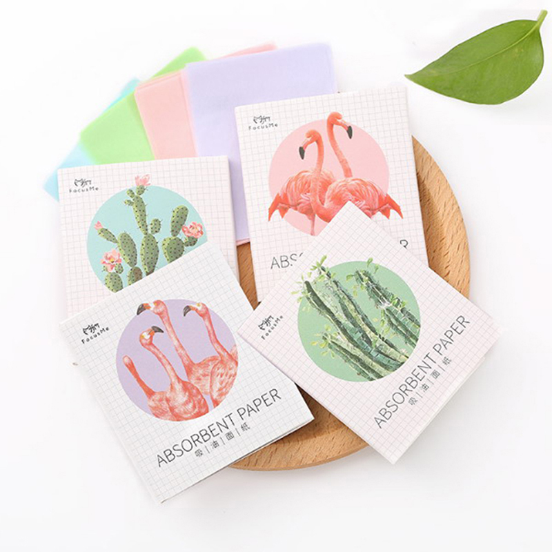 50Pcs/Pack Deep Cleansing Oil Control Tool Facial Oil Blotting Papers Oil Absorbing Sheets Face Cleanser Acne Treatment