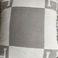 Lannidaa Fashion Wool & Cashmere Cushion Cover Decorative Pillowcase Black Grey Square Plaid Pillow Cover For Sofa Chair Car