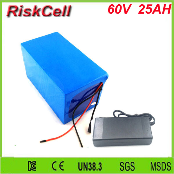 Free Customs taxes and shipping 60 volt 3000W Rechargeable 60v 25ah lithium ion battery pack with BMS and charger free customs taxes high quality 48 v li ion battery pack with 2a charger and 20a bms for 48v 15ah 700w lithium battery pack