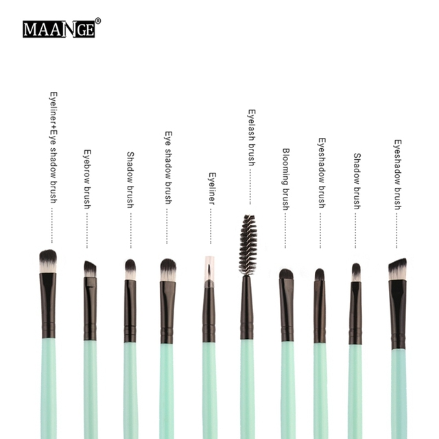 18Pcs/Set New Useful Professional Makeup Brushes Synthetic Hair Brushes Eyeshadow Contour Foundation Eye Lip Makeup Tools Kit Makeup Brushes