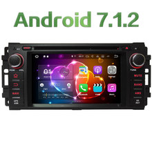 4G WIFI Android 7.1.2 2GB RAM DAB+ SWC Car DVD Multimedia Player Radio For Jeep Compass Commander Grand Cherokee Wrangler